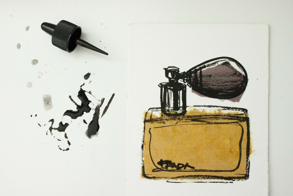 Prada Perfume illustrated by Victoria-Riza