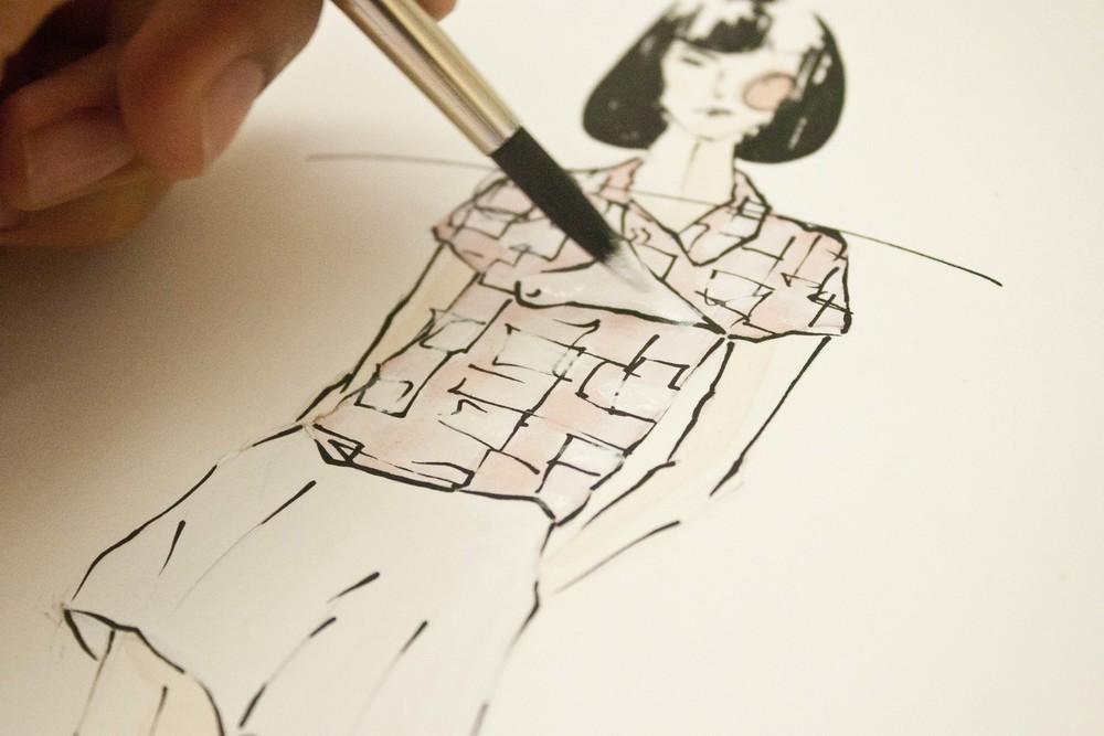 Oscar de la Renta's Spring 2015 illustrated by Victoria-Riza