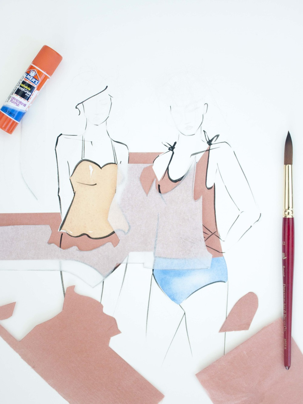 Kortni Jeane Swimsuit illustrated by Victoria-Riza