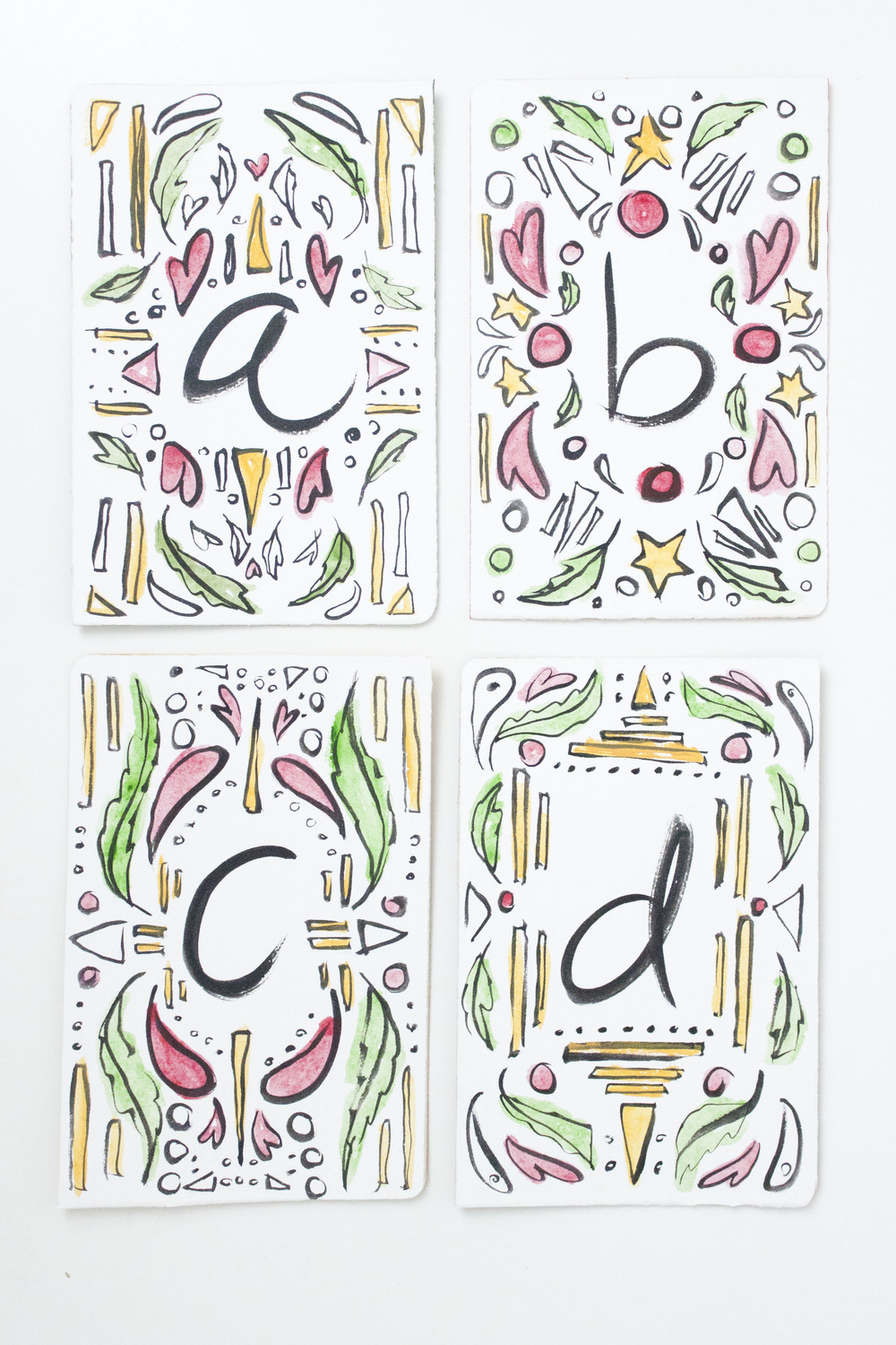Victoria-Riza Illustration Christmas ABC Flash Cards