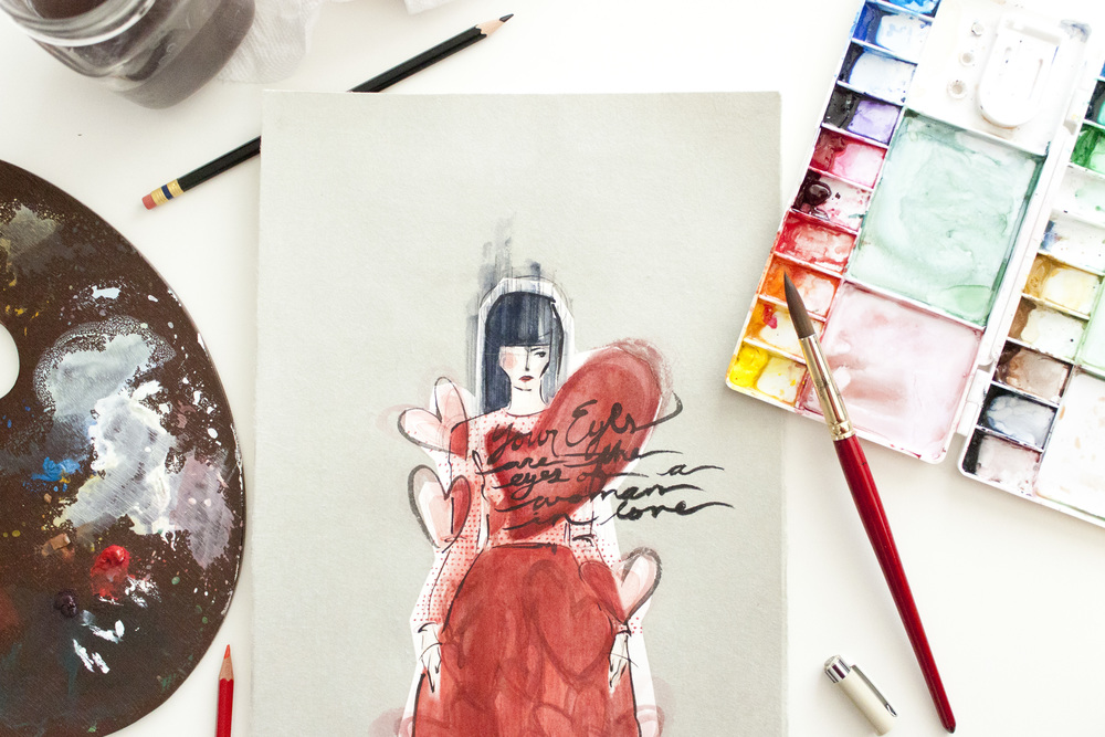 Victoria-Riza Fashion Illustrator | Valentino Pre-Fall 2015