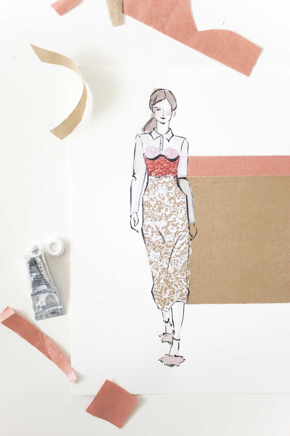 Victoria-Riza | Fashion Illustrator | Valentine's Look No. 2 | Marco de Vincenzo Spring 2016
