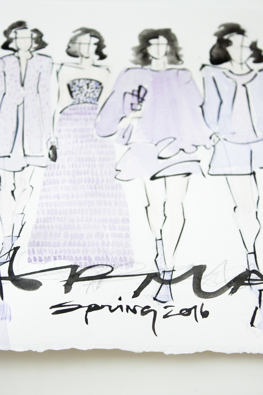 Victoria-Riza | Fashion Illustrator | Paris Fashion Week | Armani Spring Couture 2016