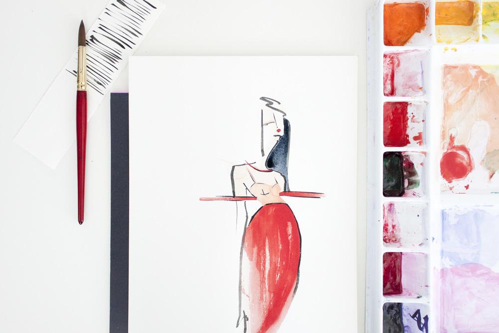 Victoria-Riza Fashion Illustrator | Jasper Conran Spring 2015