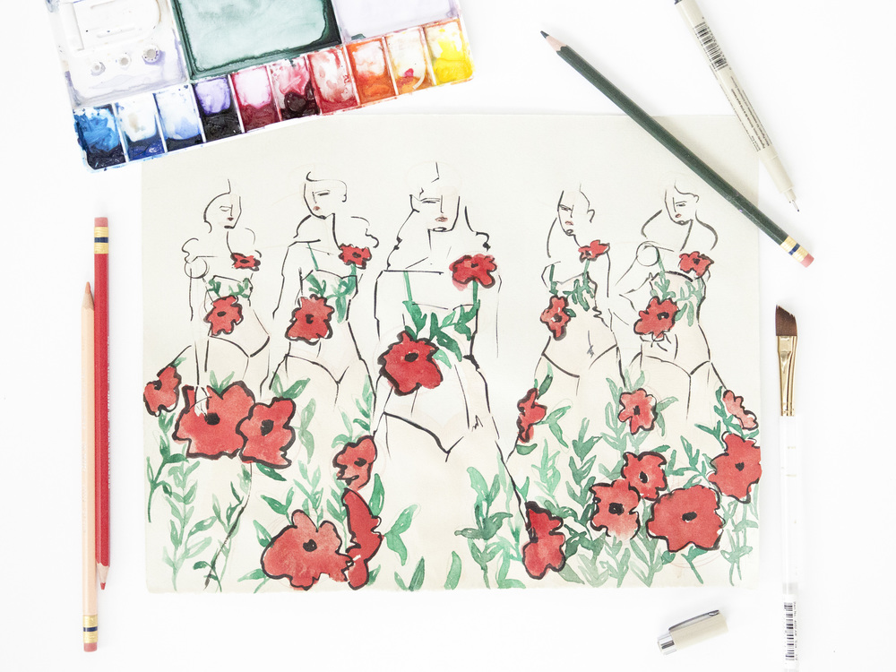 Victoria-Riza Fashion Illustrator | Field of Ladies | | Gucci Fall 2016