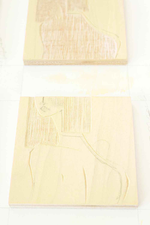 Reductive Woodcut | Fashion Illustration by Victoria-Riza