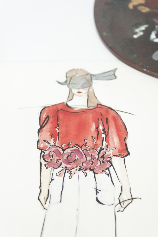 Victoria-Riza Fashion Illustrator | Chanel Spring 2015