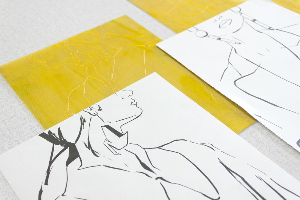Victoria-Riza Fashion Illustrator | Letterpress Prints