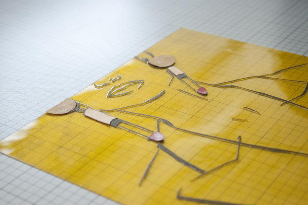Victoria-Riza Fashion Illustrator | Printmaking | Letterpress Prints of Moschino Earrings