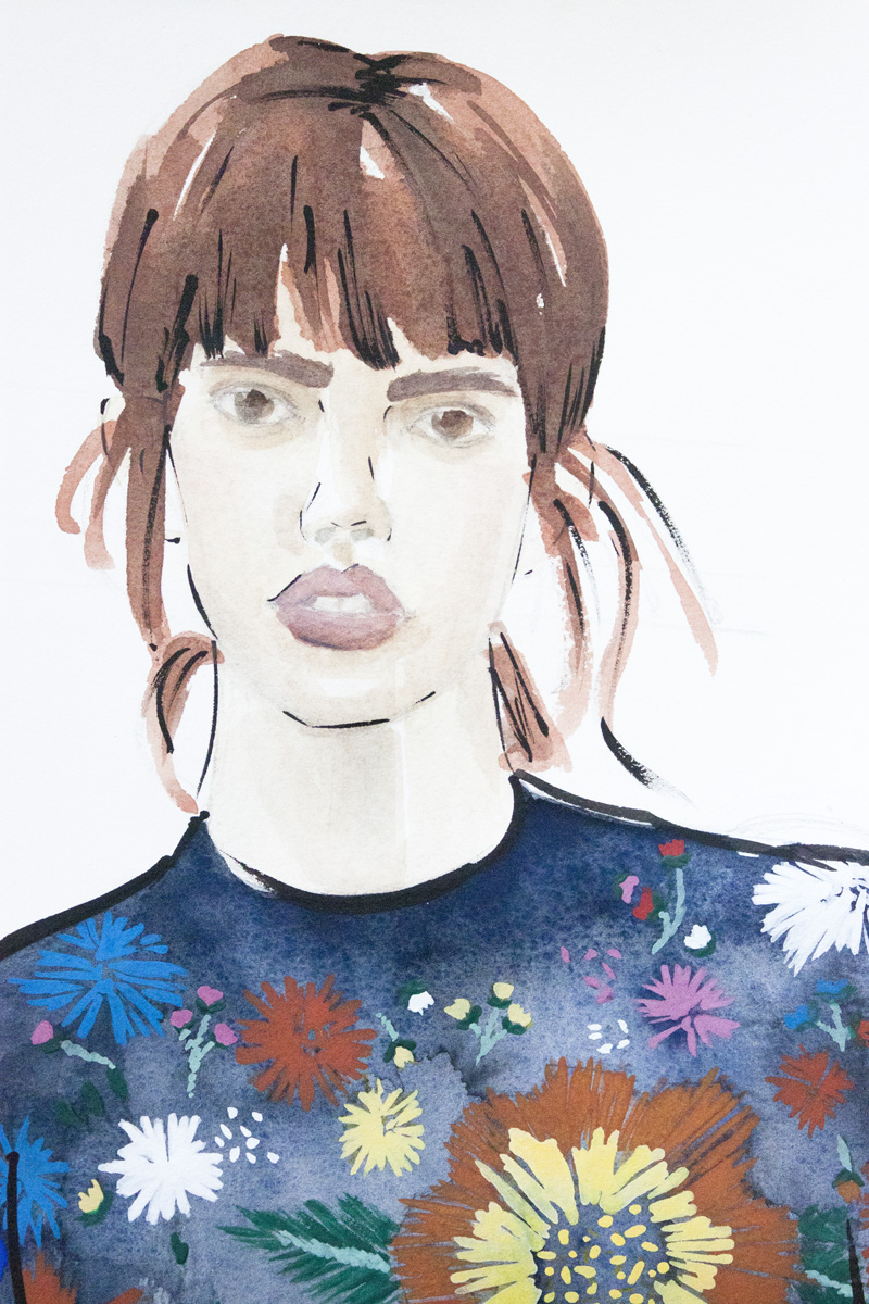 Victoria-Riza Fashion Illustrator | Victoria Beckham Fall 2016 RTW