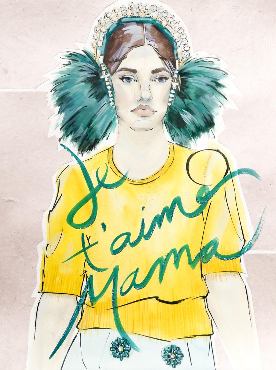 Victoria-Riza | Fashion Illustrator | Dolce & Gabbana Spring 2015