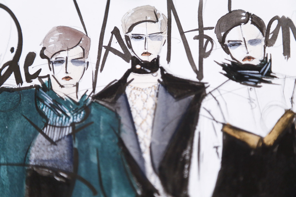Victoria-Riza | Fashion Illustrator | Dries Van Noten Fall 2016 RTW