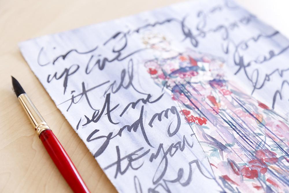 Victoria-Riza | Fashion Illustrator | Adele, Send My Love