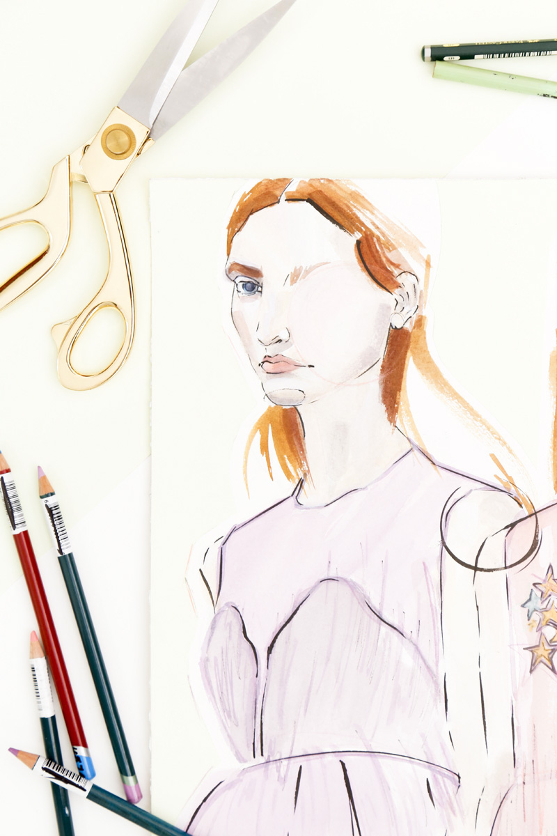 Victoria-Riza | Fashion Illustration | Delopzo Resort 2017