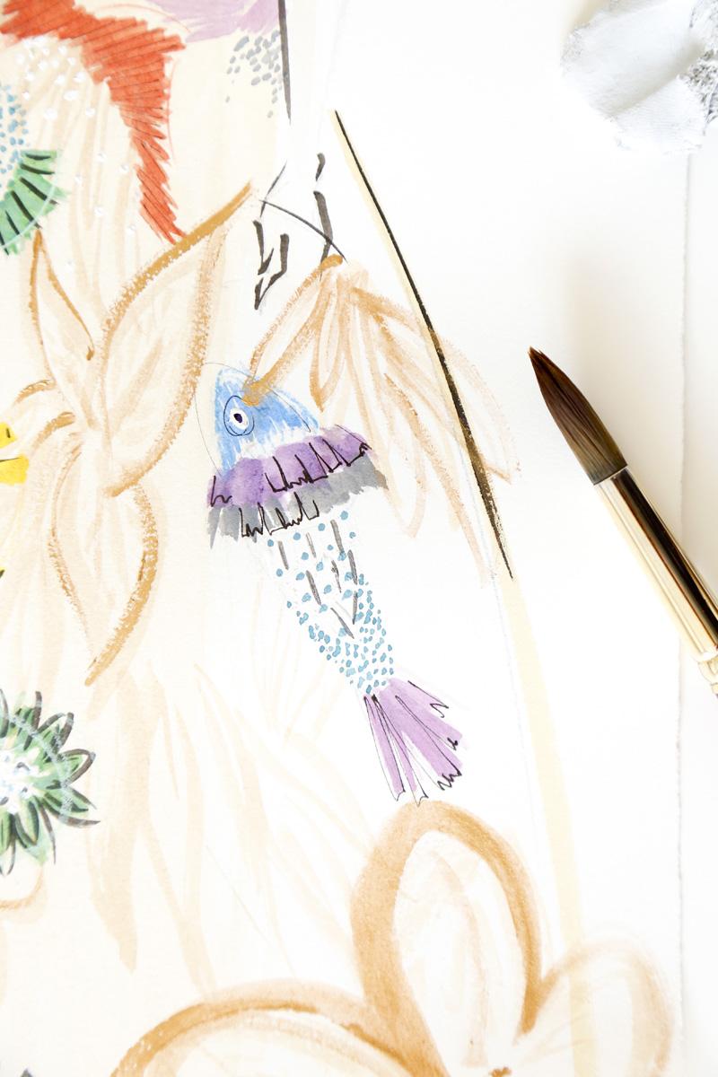 Victoria-Riza | Fashion Illustrator | Delpozo Resort 2017