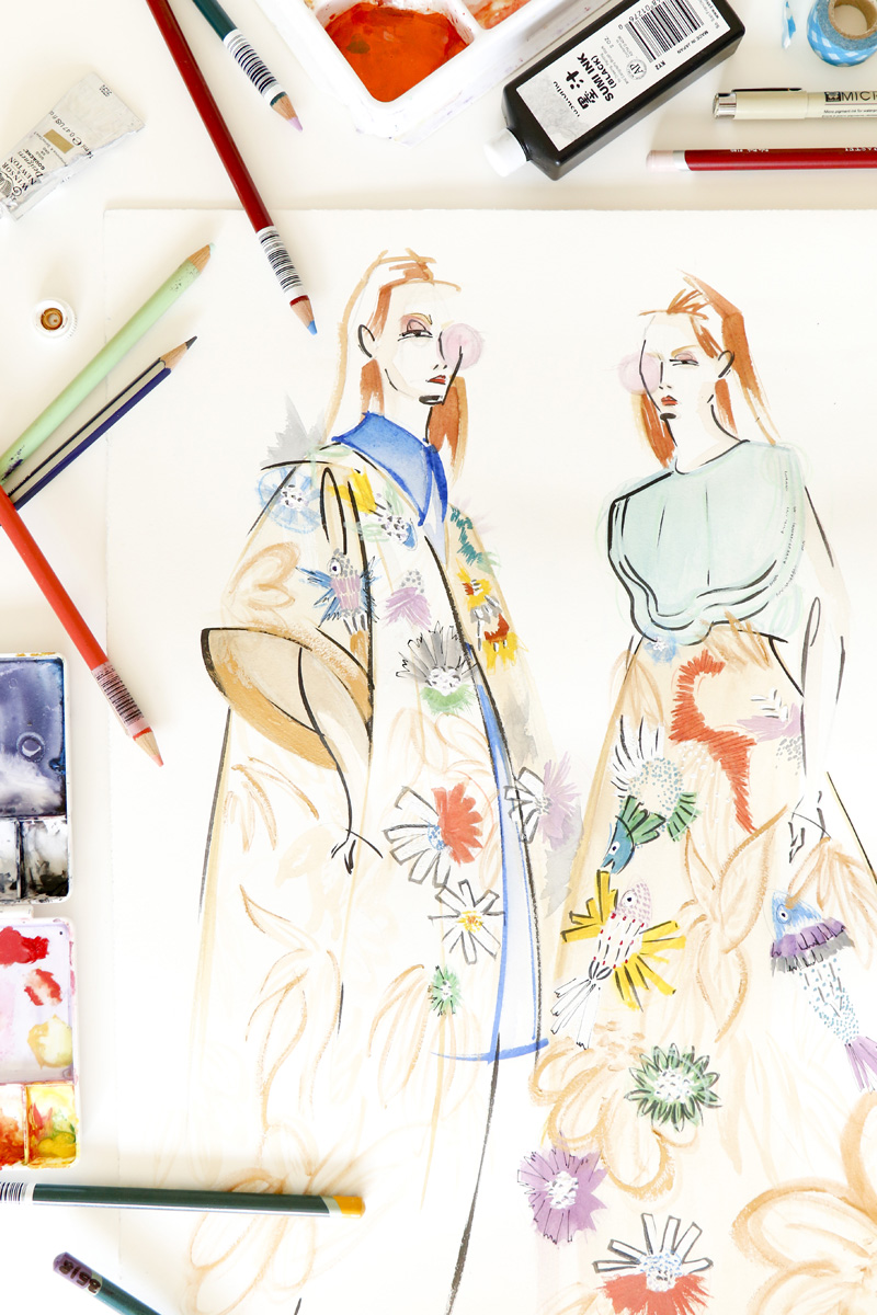 Victoria-Riza | Fashion Illustrator | Delpozo Resort 2017