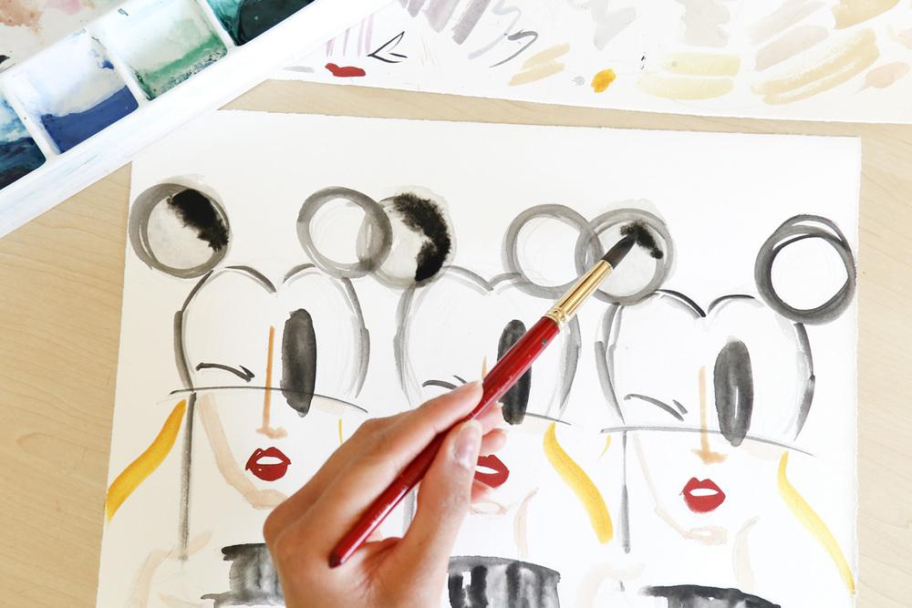Victoria-Riza | Fashion Illustrator | Disney X Coach