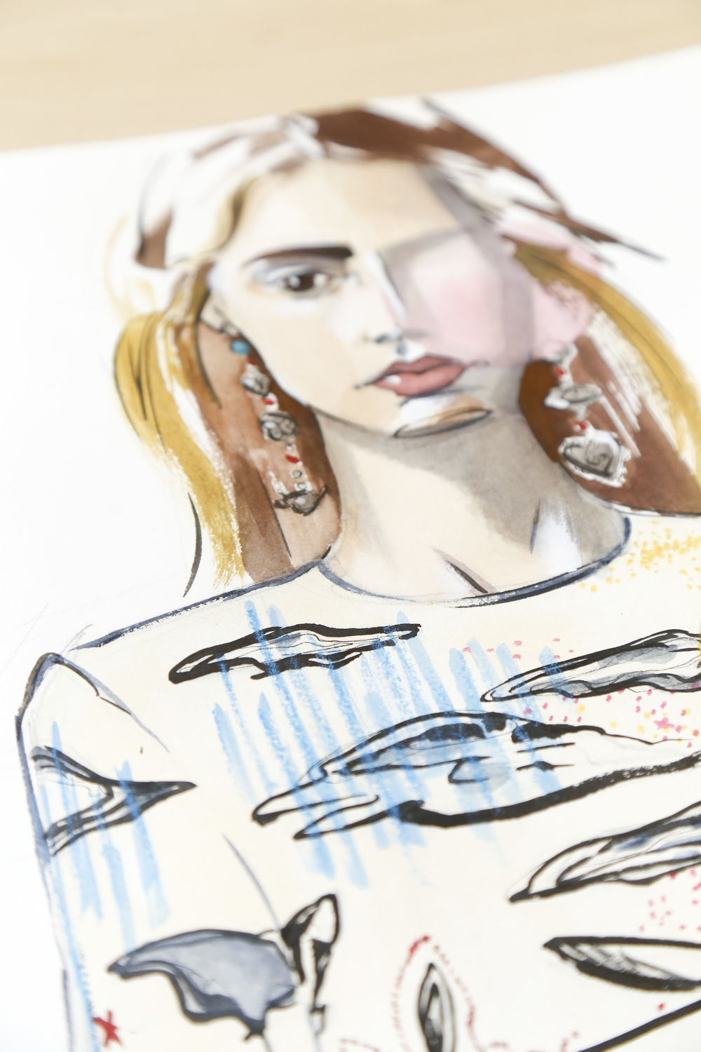 Victoria-Riza | Fashion Illustrator | Valentino Resort 2017