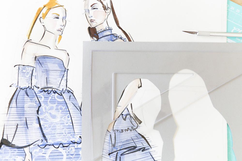 Victoria-Riza | Fashion Illustrator | Erdem Resort 2017