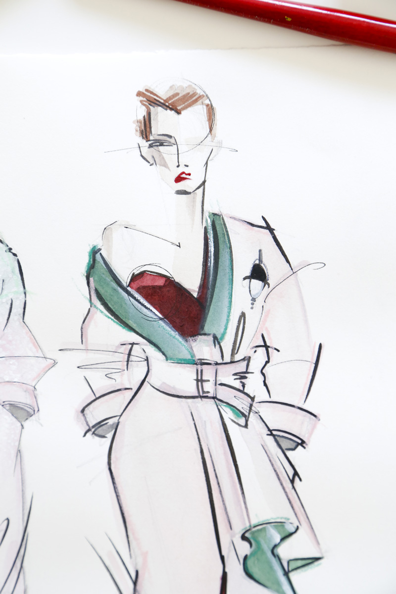 Victoria-Riza | Fashion Illustrator | Atelier Versace Couture Fall 2016