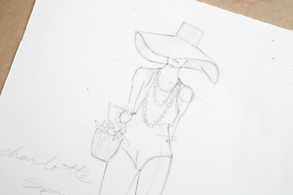 Victoria-Riza | Fashion Illustrator | Charlotte Olympia Spring 2017 Ready-to-Wear