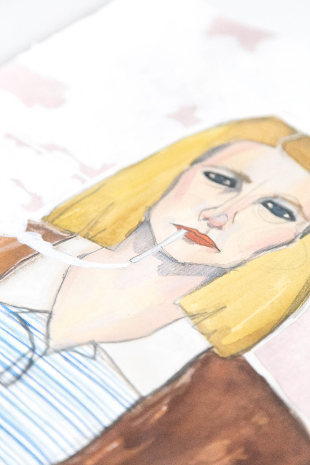 Victoria-Riza | Fashion Illustrator | Fashion in Movies | Margot Tenenbaum of The Royal Tenenbaums