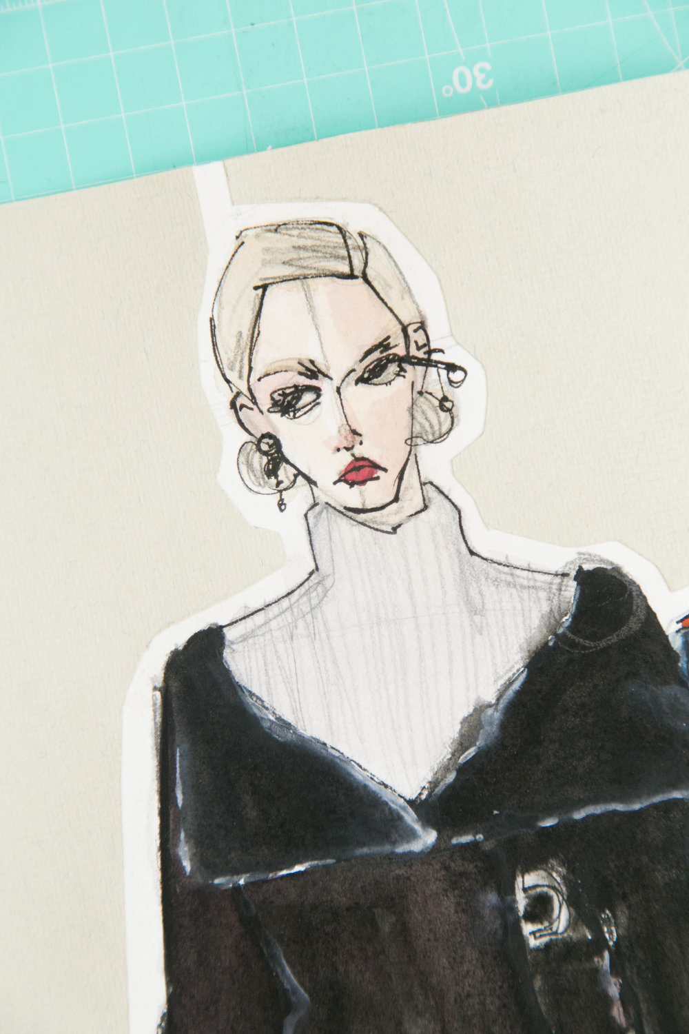 Victoria-Riza | Fashion Illustration | Dior Fall 2016