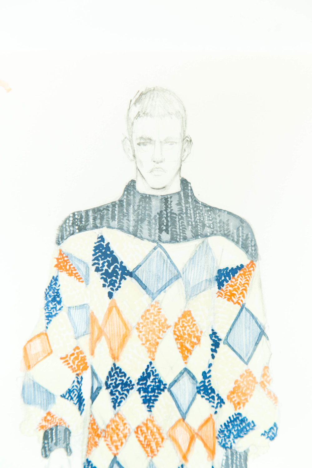 Victoria-Riza | Fashion Illustrator | Sibling Fall 2017 Menswear
