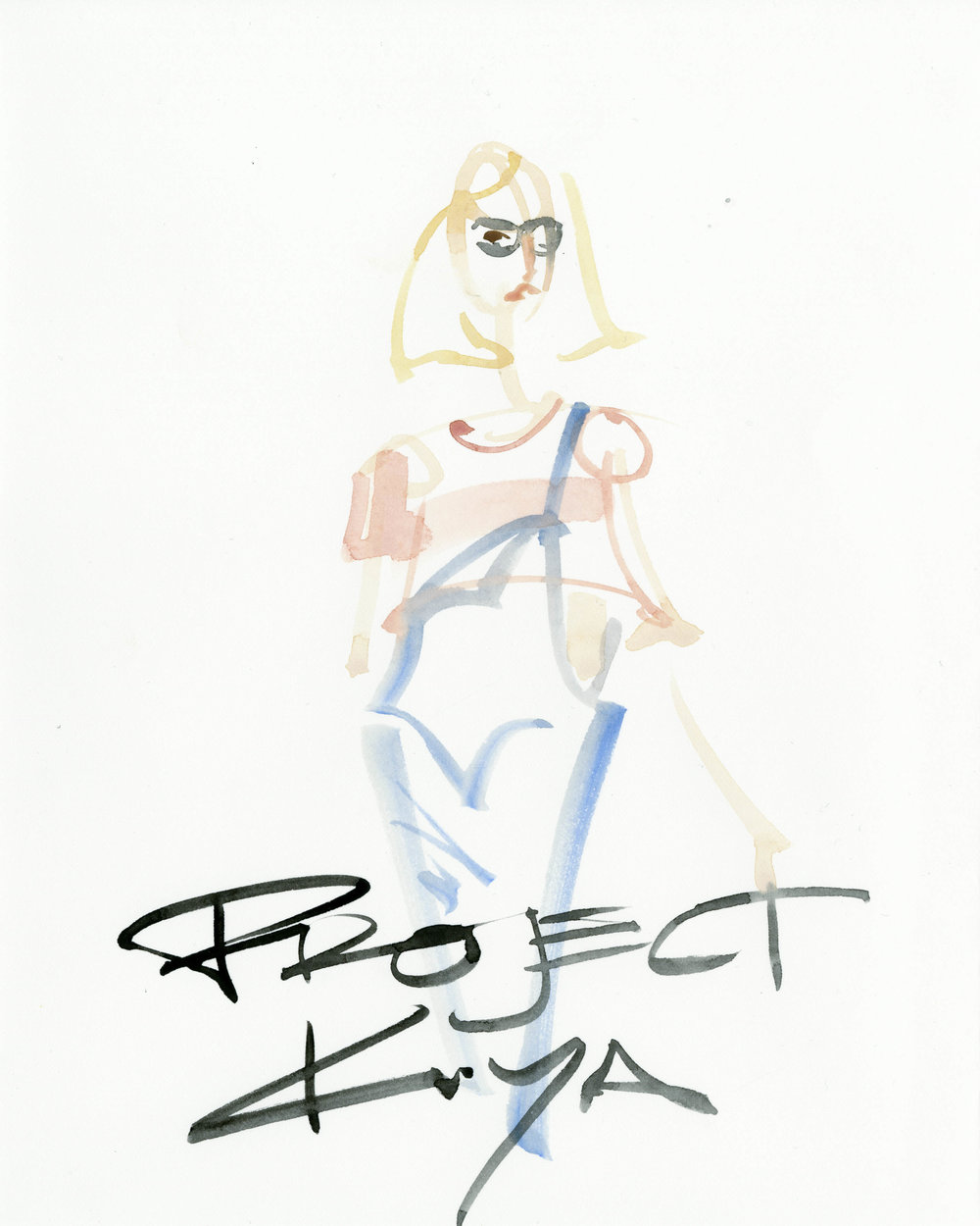 Victoria-Riza Fashion Illustrator | Collaboration with Project Kuya