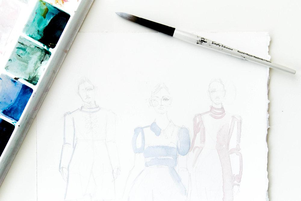 Victoria-Riza Fashion Illustrator | Rochas Fall 2017 RTW