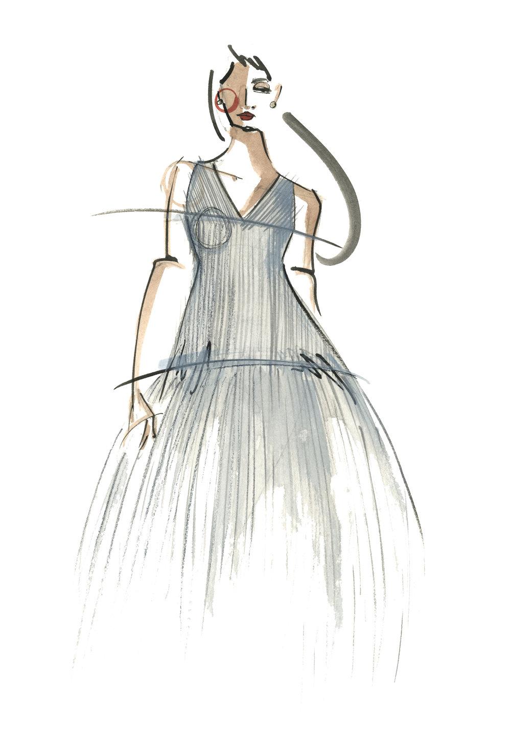 Victoria-Riza Fashion Illustrator | Designer Natalie Clark | Utah Fashion Week
