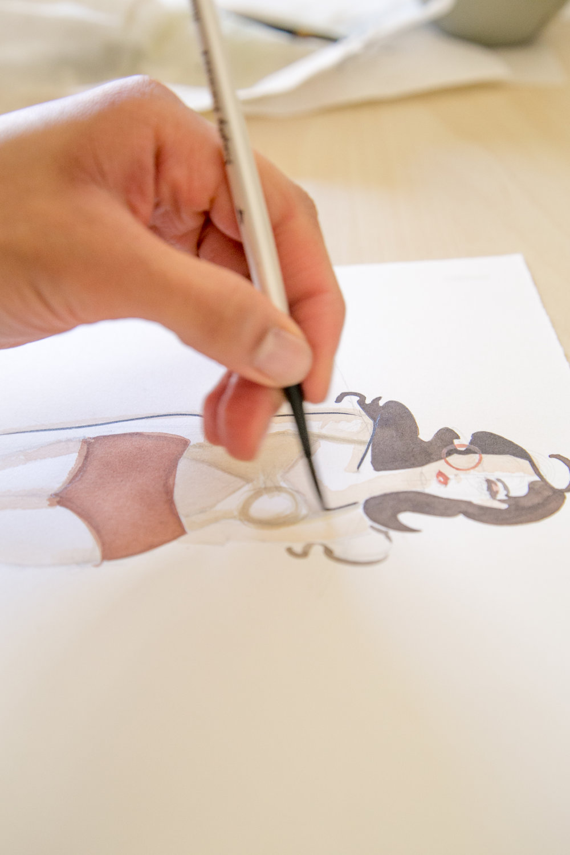 Victoria-Riza Fashion Illustrator | Utah Fashion Week