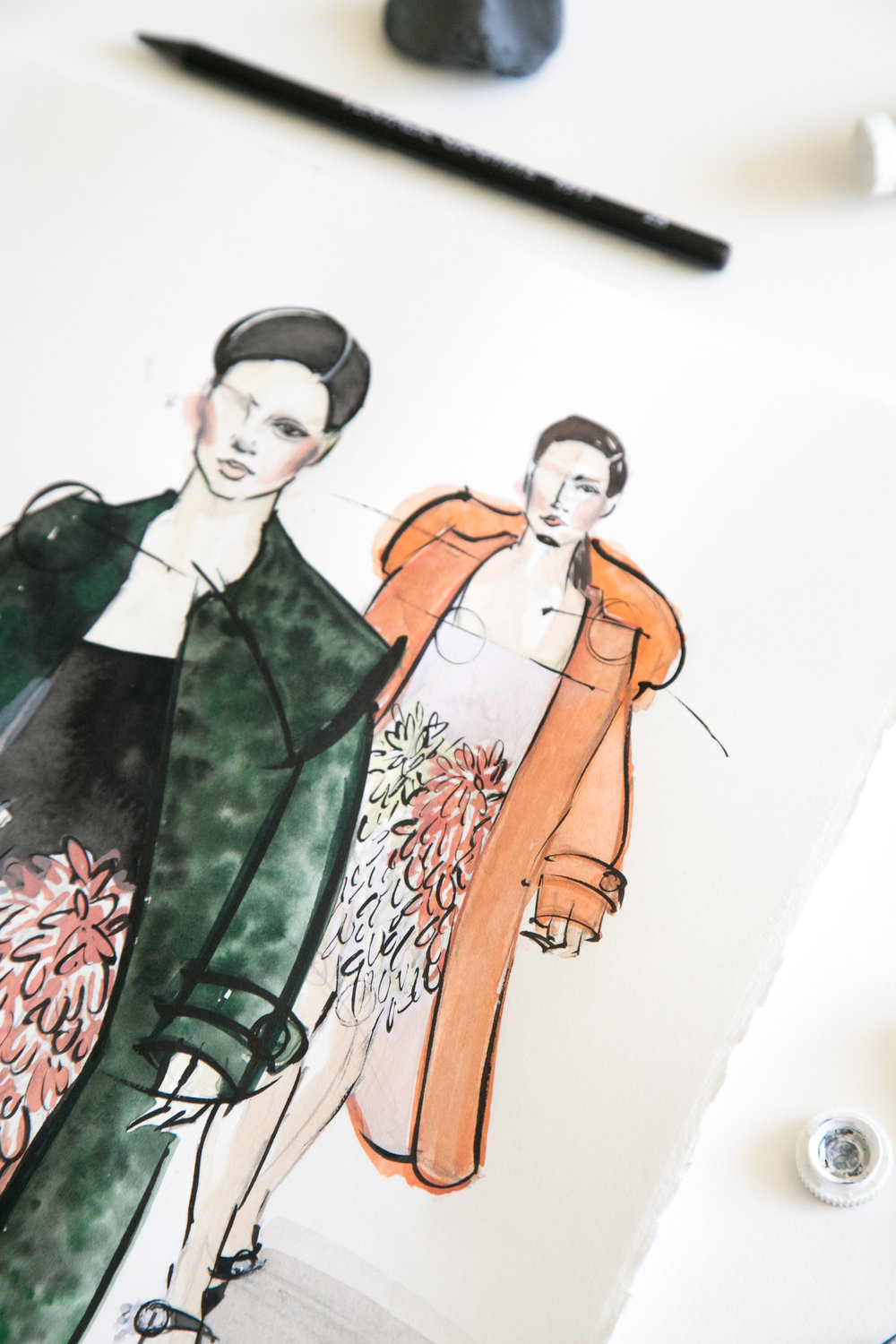 Victoria-Riza Fashion Illustrator | Miu Miu Fall 2017 RTW