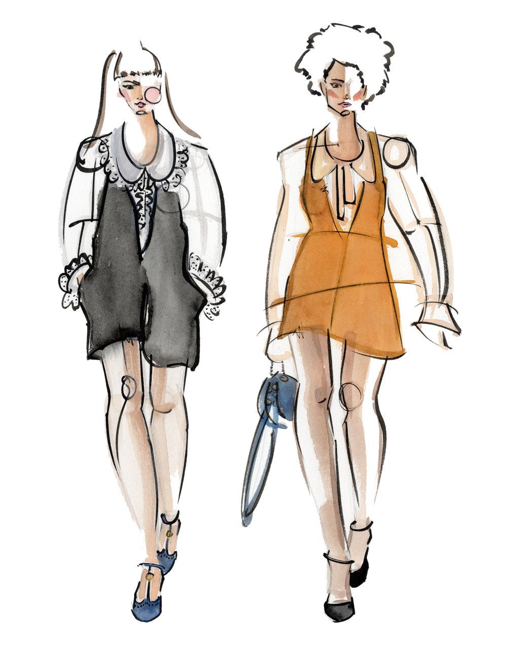 Victoria-Riza Fashion Illustrator | Chloe Fall 2017 RTW