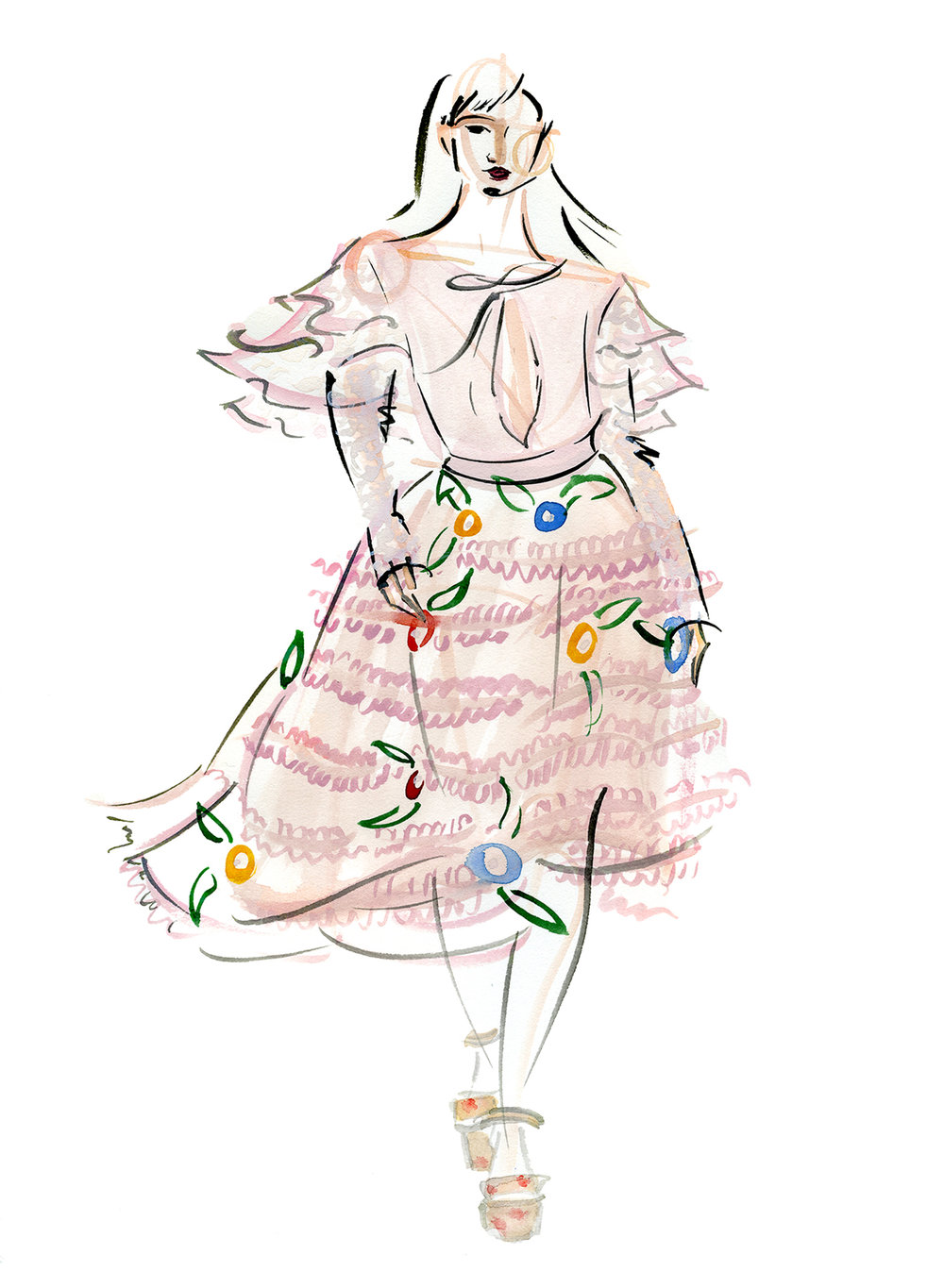 Victoria-Riza Fashion Illustrator | Au Jour Le Jour Fall 2017 RTW