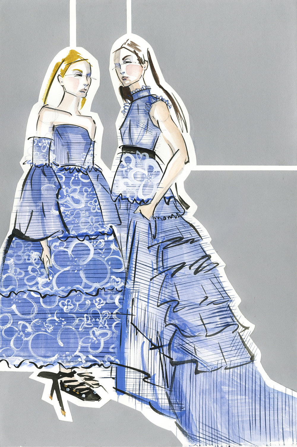 Victoria-Riza Fashion Illustrator | Erdem Resort 2017