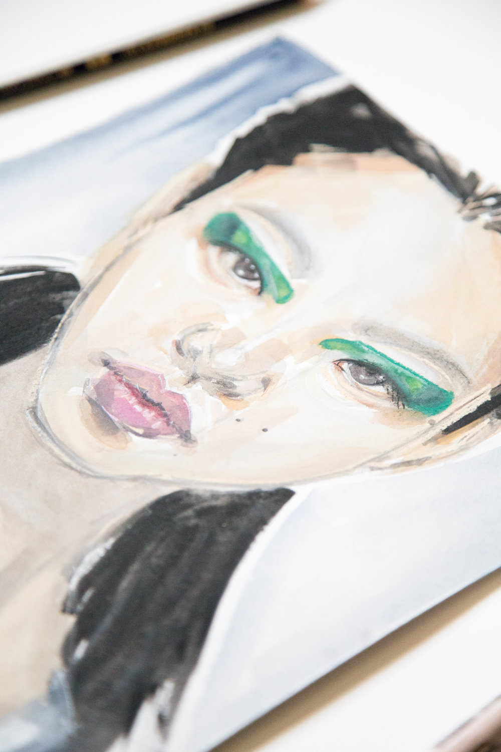 Victoria-Riza Fashion Illustrator | Marni Spring 2018 Beauty