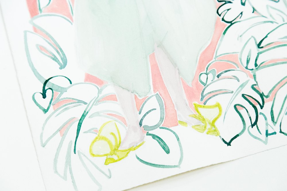 Victoria-Riza Fashion Illustrator | Delpozo Pre-Fall 2018