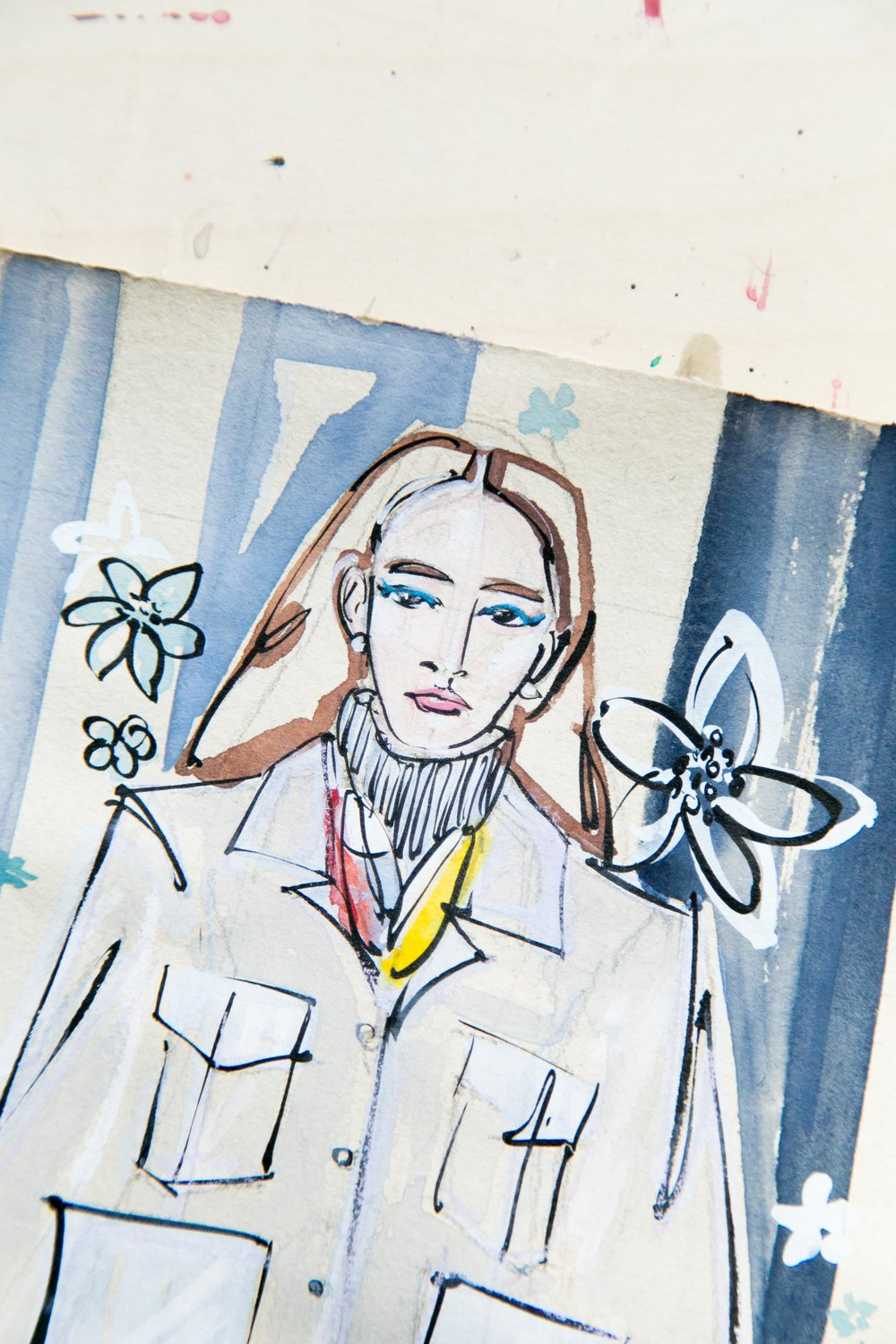 Victoria-Riza Fashion Illustrator and Artist | Hermès Pre-Fall 2018 RTW