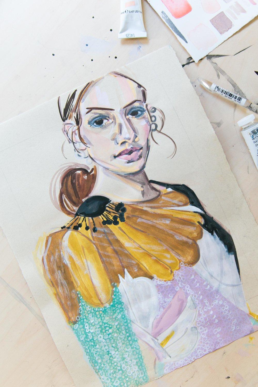 Victoria-Riza Fashion Artist | Kia Gerber in Valentino
