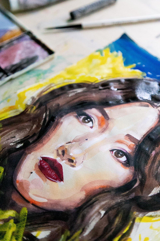 Victoria-Riza Fashion Illustrator | Constance Wu star of Crazy Rich Asians