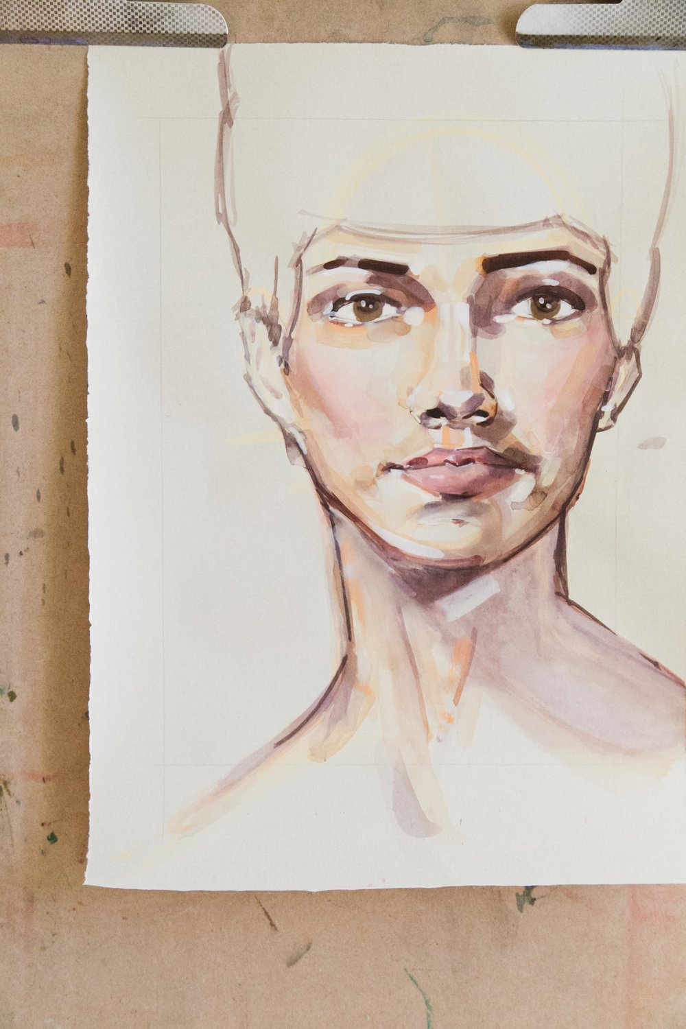 Victoria-Riza Fashion Artist Illustrator and Printmaker | A Mother's Portrait