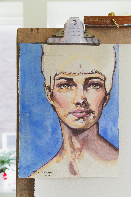 Victoria-Riza Fashion Artist Illustrator and Printmaker   A Mother's Portrait