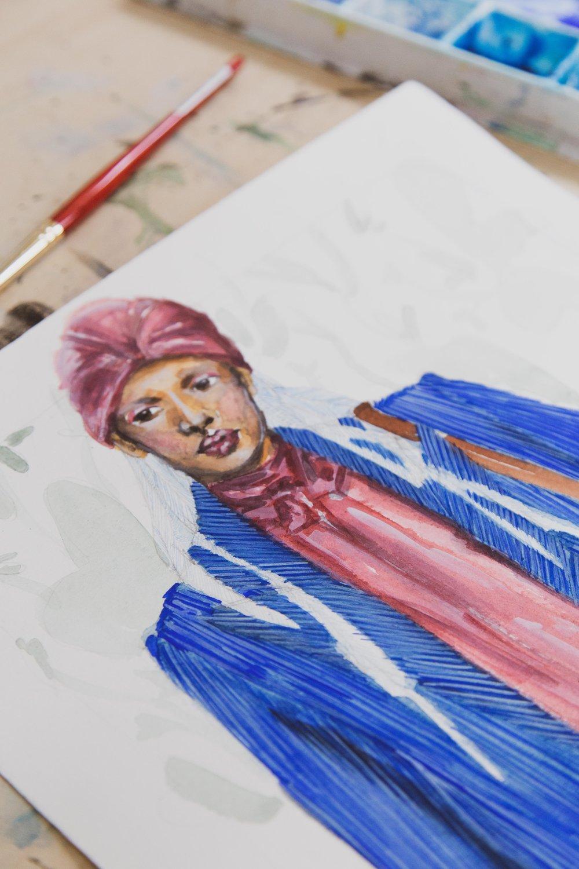 Victoria-Riza Fashion Artist and Illustrator   Kate Spade Fall 2019 RTW