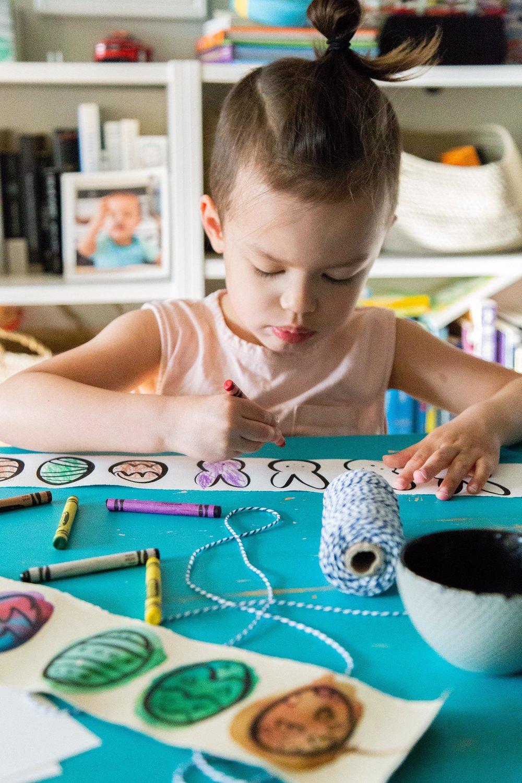 Victoria-Riza Fashion Artist and Illustrator | Mommy + Me Art | Easter Egg Printable