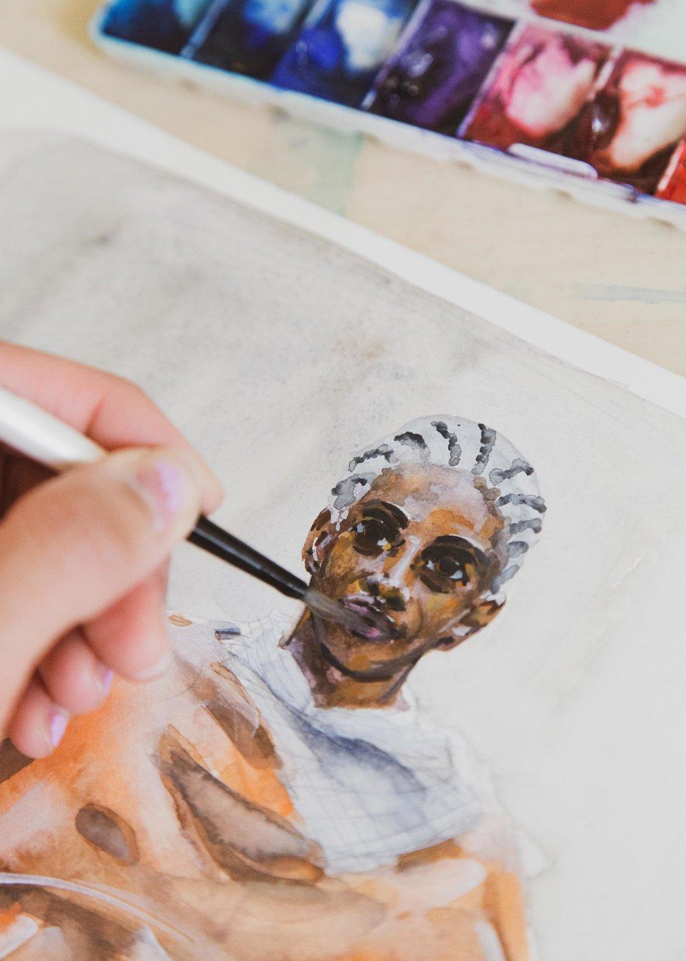 Victoria-Riza Fashion Artist Illustrator and Printmaker | Deveaux Fall 2019 RTW