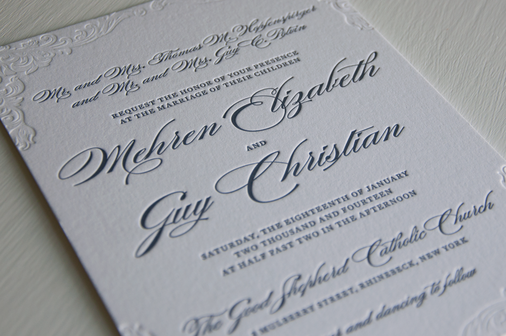 Custom Letterpress — Huckleberry Letterpress Co.