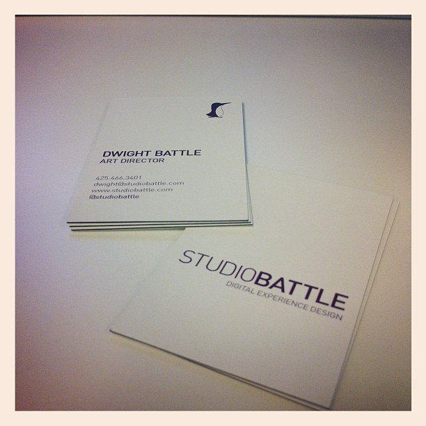 New business cards-new website coming soon!  www.studiobattle.com  (Taken with  Instagram )