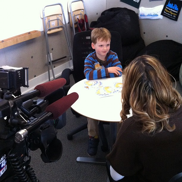 My boss getting interviewed for KOMO! (Taken with Instagram at Startup Weekend HQ)