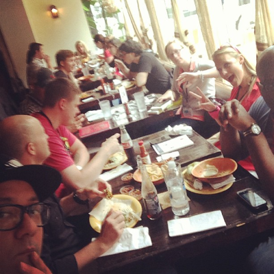 Lunch with the #hownewbies. (photo credit: Duane Smith)
